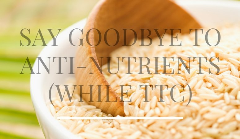 Say Goodbye to Anti-Nutrients (while TTC)